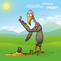 Free Vulture Who Save Cute Worm From Mole Stock Images - 14583544