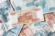 Free Russian Money Background Stock Photography - 14580142