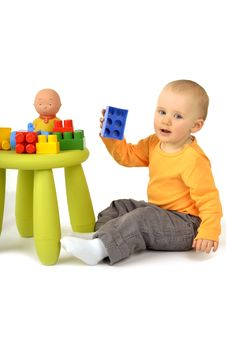 Free Baby With Blocks Stock Photo - 14580450