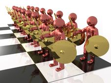 Free Warriors On The Chess-board Royalty Free Stock Photo - 14580655