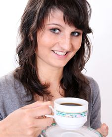 Free Coffee Woman Royalty Free Stock Photography - 14580667