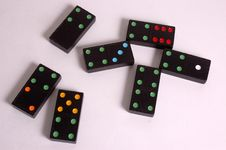 Colored Domino Tiles Stock Photography