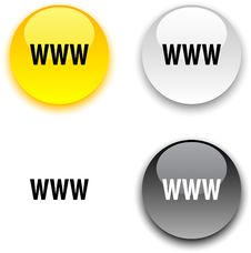 WWW Button. Royalty Free Stock Photo