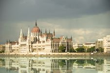 Hungarian Parliament Building In Budapest Stock Photography