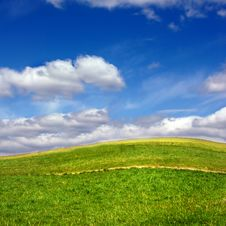 Free Green Field Against Blue Sky Stock Image - 14581281