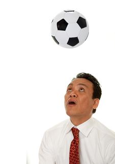 Grazy At Soccer Royalty Free Stock Image