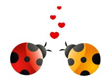 Free Two In Love Ladybirds Royalty Free Stock Image - 14581396