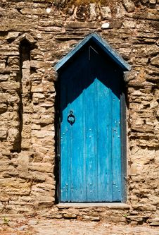 Free The Blue Door Royalty Free Stock Photos - 14582078
