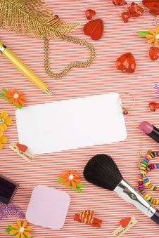 Background For Female Holidays Royalty Free Stock Photography