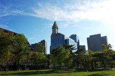 Boston Custom House Royalty Free Stock Photo