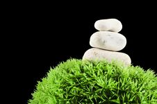 Free Three Stones And Grass Ball Stock Photo - 14582540