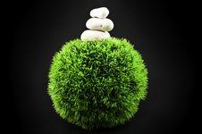 Free Three Stones And Grass Ball Stock Photo - 14582570
