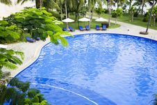 Swimming Pool In Resort Royalty Free Stock Photography