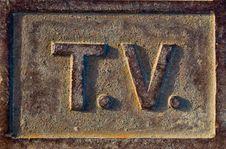 Free T.V Sign Stock Photos - 14583013