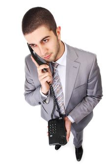 Free Businessman With Telephone Royalty Free Stock Photography - 14583037