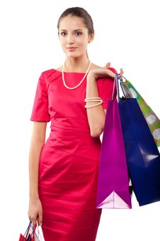 Free Woman Shopper Royalty Free Stock Image - 14583066
