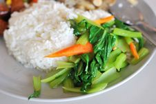 Free Chinese Simple Vegetable Set Meal Stock Photos - 14583223