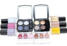 Free Set Of The Make-up, Varnish For Nail Royalty Free Stock Photography - 14583697