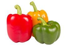 Free Three Colorful Pepper Stock Image - 14583931