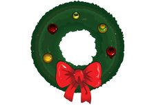 Free Christmas Wreath Stock Photography - 14584182