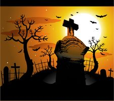 Free Vector Halloween Background Stock Image - 14584201