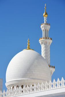 Minaret Of Sheikh Zayed Mosque In Abu Dhabi Stock Photos