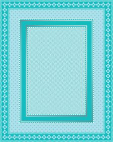Free Intricate Lace Frame With Polka Dot Pattern Royalty Free Stock Images - 14584669