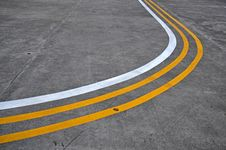 Free Yellow And White Lines On The Road Royalty Free Stock Photo - 14585005
