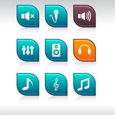 Free Audio Icons. Royalty Free Stock Photos - 14585658