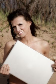 Free Laptop Covering A Woman Stock Photos - 14585753