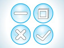 Free Abstract Shiny Blue Buttons Royalty Free Stock Photo - 14585845