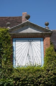 Sundial At Packwood House Royalty Free Stock Photo