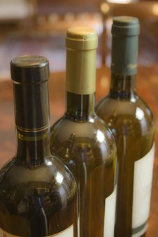 Free Three Bottles Of Wine Stock Image - 14586481