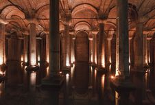 Turkey, Istanbul, The Basilica Cistern Royalty Free Stock Photo