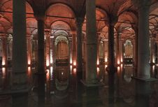 Turkey, Istanbul, The Basilica Cistern Stock Photography