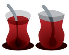 Pair Of Tea Glasses Royalty Free Stock Photography