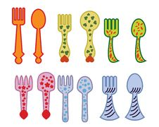Free Forks And Spoons Stock Image - 14587201