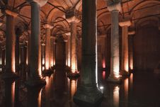 Free Turkey, Istanbul, The Basilica Cistern Royalty Free Stock Image - 14587226