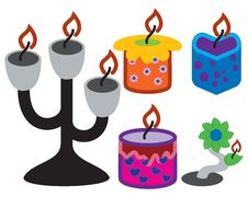 Free Candles Royalty Free Stock Photos - 14587228