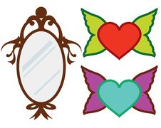 Free Mirror And Hearts Stock Image - 14587231