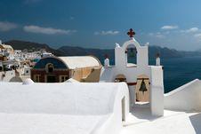 Free Church On Island Santorini 3 Royalty Free Stock Image - 14587446