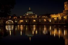 Rome. The Tiber River Stock Photos