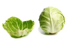 Free Cabbage And Leaf Stock Photography - 14588352