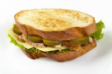 Free Chicken Sandwich Royalty Free Stock Image - 14588376