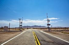 Free Railway Crossing On Route 95 Royalty Free Stock Photos - 14588828