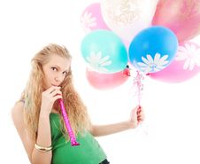 Free Girl With Balloons Stock Photos - 14588833
