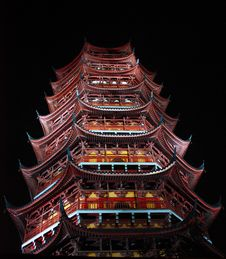 Free Archaic Tower At Night Stock Photography - 14589252