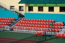 Free Tennis Arena Red Seats View Royalty Free Stock Photos - 14589458
