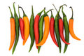 Free Mixed Coloured Chilli Peppers Stock Photography - 14590272