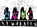 Free Models On Filmstrip Royalty Free Stock Image - 14596736